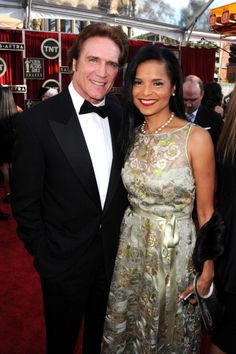JANUARY 27: Actors Barry Van Dyke and Victoria Rowell attend the 19th Annual Screen Actors Guild Awards at The Shrine Auditorium on January 27, 2013 in Los Angeles, California.