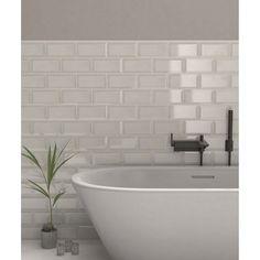 Metro Tiles Bathroom, Best Bathroom Tiles, Bathroom Renos, Bathroom Ideas, Kitchen Splashback Tiles, Tiles Uk, Topps Tiles, Fitted Bathroom