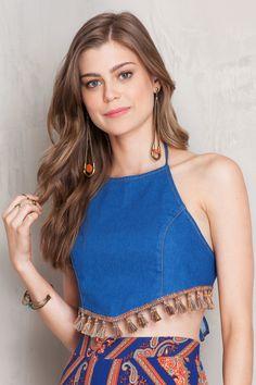 Top cropped chuveirinho color | Dress to