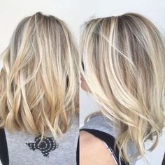 Blonde Hair Care, Blonde Hair With Highlights, Hair Color Balayage, Caramel Highlights, Chunky Highlights, Red Highlights, Shoulder Length Blonde, Medium Length Blonde, Medium Hair Styles