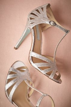 Stardust Heels from BHLDN $40 t straps... kind of adorable and sparkly....