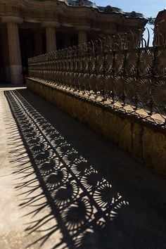 Shapes And Shadows - Antoni Gaudi - Park Guell - Barcelona Photograph
