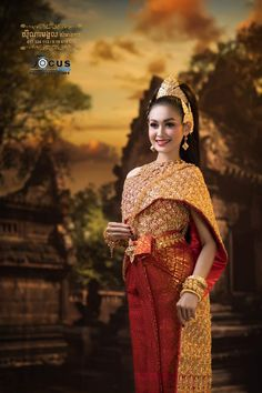 Traditional Wedding Dresses, Kebaya, Cambodia, Asian Girl, Women Wear, Sari, Beautiful Women, Costumes, Woman