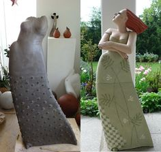 Clay figures of Margit Hohenberger 2011
