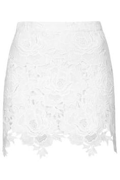 Cut Out Rose Lace Skirt