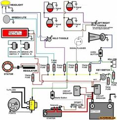 simple motorcycle wiring diagram for choppers and cafe racers evan rh pinterest com motorcycle electrical diagram symbols how to read motorcycle electrical diagrams