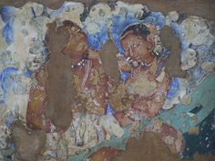 Ajanta cave 2, girls detail - Ajanta Caves - Wikipedia, the free encyclopedia