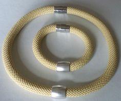 Komplet biżuterii-naszyjnik i bransoletka - Kamea-Bizuteria-Ceramika…