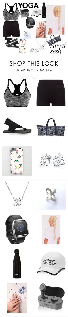 """""""Yoga Work Out"""" by dominique-summerall ❤ liked on Polyvore featuring sanuk, NOVICA, Bling Jewelry, Fitbit, Tek Gear, Static Nails and Tzumi"""