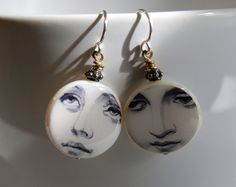 Little Visions Photo & Jewelry Art ~ Lady Face Earrings ~ www.annwidner.com