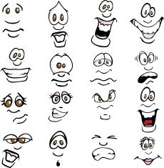 Cartoon Drawings Cartoon Expressions Royalty Free Stock Vector Art Illustration - Easily mix and match faces to create virtually any expression Cartoon Eyes, Cartoon Drawings, Cartoon Art, Easy Drawings, Silly Faces, Funny Faces, Free Vector Graphics, Free Vector Art, Cartoon Expression