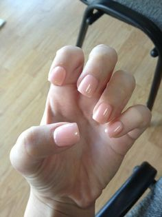 Natural looking acrylics @Amanda Snelson Snelson Snelson Snelson Bukilica   found my bridesmaid nails