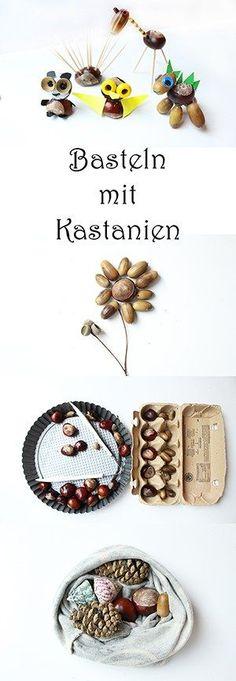 Schöne Ideen, was man aus Kastanien basteln kann!