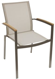For a breezy, coastal vibe and comfortable seating, invite the Whiteline Sanctuary Outdoor Dining Armchair - Set of 4 to your outdoor dining. Dining Arm Chair, Patio Dining, Outdoor Dining, Outdoor Chairs, Outdoor Decor, Dining Table, Small Patio Furniture, Teak Table, Design Your Home