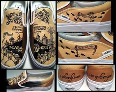 Harry Potter shoes. I want shoes like these to wear when I go back to Universal next summer :)