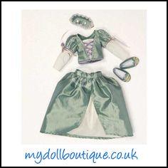 Matilda's ballgown and mask