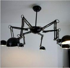 Designer Hänge Lampe Sputnik Art Deco Bauhaus Loft   *Angeboten Wird Ein  Echter Hingucker   Eine Hängelampe Im Machine Age Industrie Design Mit  Sechs ...