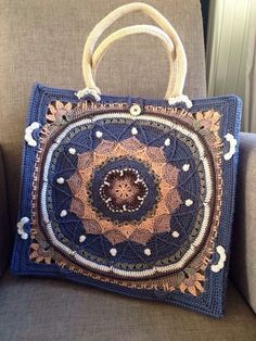 Resultado de imagen de bolsa de yute con mandalas