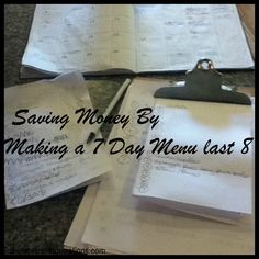 Great way to make room in your food budget for stocking up on good sales.