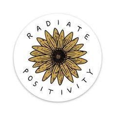 Big Moods Vinyl Stickers - Radiate Positivity Sunflower