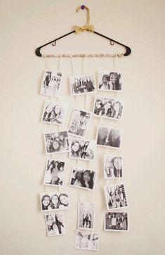 a cute DIY photo collage that my friend made for my birthday (: - DIY Deko Diy Photo, Photo Ideas, Picture Ideas, Photo Art, Photo Polaroid, Polaroid Wall, Decoration Photo, Polaroid Decoration, Youth Rooms