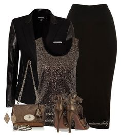 Blackened Bronze by autumnsbaby on Polyvore featuring polyvore fashion style Soaked in Luxury DKNY Glamorous Alaïa Mulberry Lucky Brand Ippolita