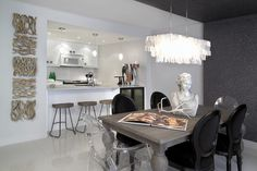 Contemporary Dining Photos White Design, Pictures, Remodel, Decor and Ideas - page 29