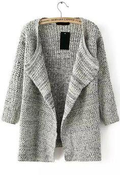 Knit Loose Beige Cardigan
