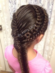 2 Laced Braids followed by a Fishtail ❤️