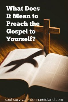 """What Does It Mean to Preach the Gospel to Yourself?"" (2.18) When do we need the Gospel? Is it a one-time thing? Does it have anything to do with our ongoing walk with God? Could focusing on it help us love God more? A better question might be, ""How often do I sin and fall short of God's standard?"" For me, that's every day and I've come to understand that's how often I need to preach the gospel to myself. And as we do, the result is transformative. #gospel #grace #christianity"