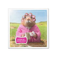 Avanti Press - Morning Groundhog with Breakfast Donut and Coffee. Regalo, gift. #servilleta #napkin