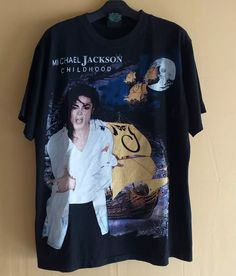 2573d9be Vintage Vintage 90s Bootleg MICHAEL JACKSON Childhood King Of Pop Single  Stitch RARE T-SHIRT