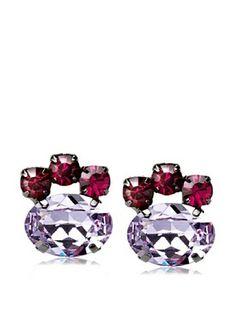 60% OFF TOVA Lavender Oval Post Earrings