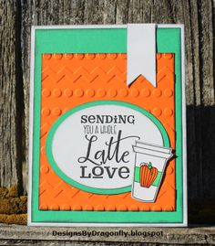 Handmade card by D~ using the Latte Love digital set from Verve. #vervestamps