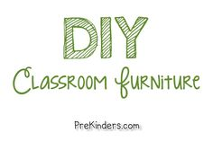 THE BEST TUTORIAL FOR DIY Classroom Furniture. This is a cool list with links to plans to make your own classroom furniture for cheaper than buying it from a vendor. Classroom Organisation, Classroom Setup, Classroom Design, Kindergarten Classroom, Future Classroom, Classroom Management, Tangram, Classroom Furniture, Dream School