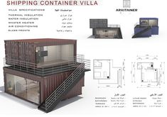 Best Ideas For House Architecture Concept Shipping Containers Building A Container Home, Container Buildings, Container Architecture, Container House Plans, Shipping Container Home Designs, Container House Design, Tiny House Design, Shipping Containers, Bungalows