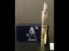 Anubis Styled RDA Atomizer + 18650 Mechanical Mod Kit Atomizer features: Removable brass + glass drip tip Air flow adjustable air slits) Triple posts Post. Rda Atomizer, Drip Tip, Anubis, Vape, Perfume Bottles, Brass, Youtube, Style, Smoke