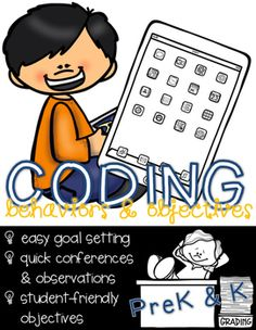Coding Behaviors & Objectives for Young Children (PreK & K) - If you already do writing conferences, try coding conferences!