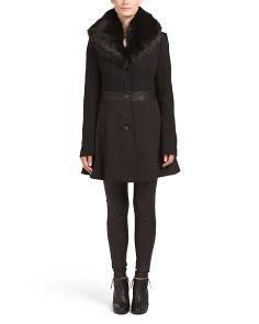 Xl Faux Fur Collar Coat