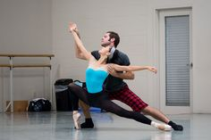 Zack Grubbs and Sirui Liu in rehearsal for Cincinnati Ballet's 2013-2014 50th Anniversary Season's The Kaplan New Works Series.  Photography: Jennifer Denham #pointe #ballet #cincinnatiballet #cincinnatiballet50 #dance #newworks #thisisotr