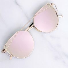Accessories - Rose Gold Mirrored Sunglasses