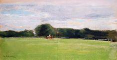Liebermann, Max : The Polo Field in Jenischs...