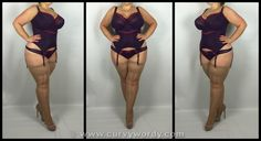 Lola Luxe Basque in Blackberry 36K and Thong XL http://www.curvywordy.com/2015/02/bravissimo-lola-luxe-basque-in.html