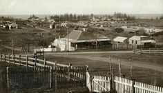 Corner of Barney and Shoalhaven Streets,Kiama in the South Coast of New South Wales in 1916