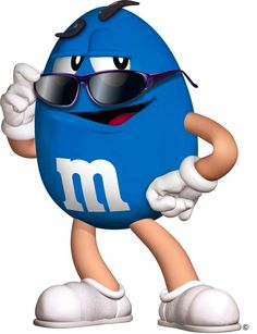 Blue M&m Characters, Fictional Characters, M & M Chocolate, M Wallpaper, M M Candy, Candyland, Painting Patterns, Shades Of Blue, Painted Rocks