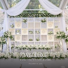 WedLuxe – The Bride Wore Ines Di Santo at this Casa Loma Wedding Wedding Stage, Wedding Events, Wedding Ceremony, Dream Wedding, Backdrop Decorations, Flower Decorations, Wedding Decorations, Wedding Backdrops, Marriage Decoration