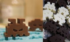 Space Invaders Chocolate | Community Post: 21 Beautifully Geeky Foods