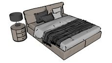 Bedroom (furniture and decoration) - 3D Warehouse
