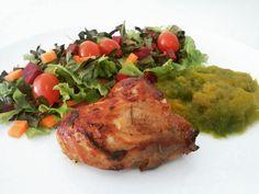 🌿🍅 Segunda-feira colorida: plantas (alface, couve crocante, cenoura, beterraba, tomate cereja, abóbora) + carne de porco. 🌱🎃🐷