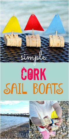 DIY Cute Cork Sail Boats - Simple and FUN play for summertime! http://Frogs-and-Fairies.com
